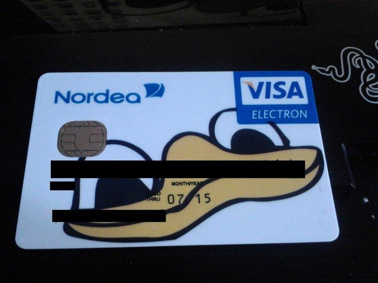 Visa pls. My new bankcard came today!. Norden VISA fra- ELECTRON visa pls