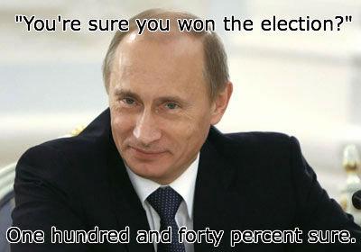 "Vladimir Putin. Hop on the bandwagon, everyone!. sure 3: 14 the election?"" Vladimir Putin Hop on the bandwagon everyone! sure 3: 14 election?"""