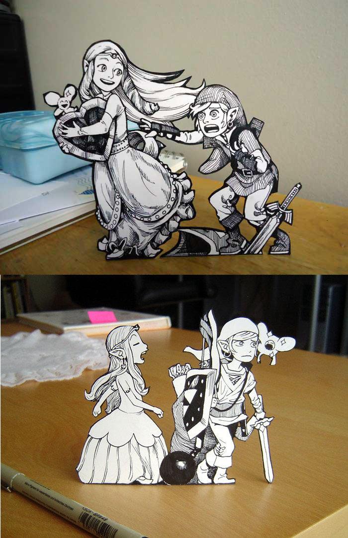 Zelda paper art!. Neat.. Zelda paper Art