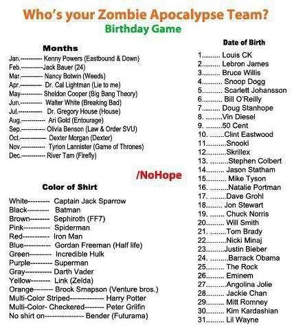 Zombie apocalypse team. what is your team?. Who' s your Zombie Apocalypse Team? Birthday Ga me Monika Baum (M) Mar. {woods} Maj [Eta Bang Thet) Ang- Ad Enid to} Zombie apocalypse team what is your team? Who' s Apocalypse Team? Birthday Ga me Monika Baum (M) Mar {woods} Maj [Eta Bang Thet) Ang- Ad Enid to}